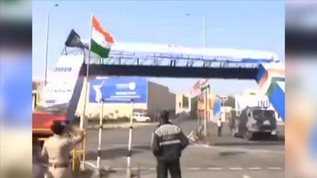 特朗普访印前一天,印度为他修建的VVIP入口塌了