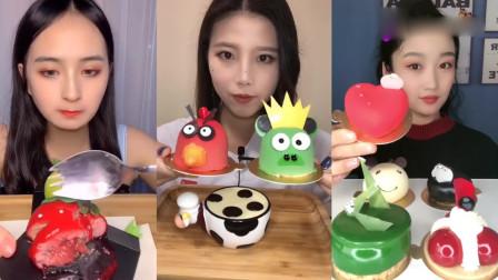 小可爱美女吃:愤怒小鸟糖、草莓,看着就想吃