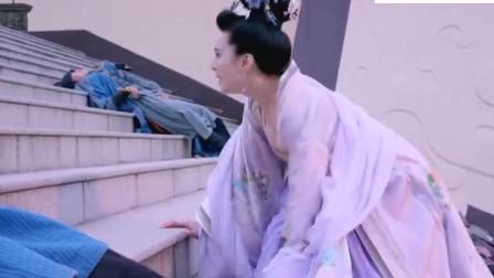 武媚娘赶着去救陛下,一袭紫衣霓裳美伦美央,惊艳