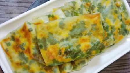 厨师长教你韭菜鸡蛋饼好吃的做法,外酥里软,出锅香气扑鼻抢着吃