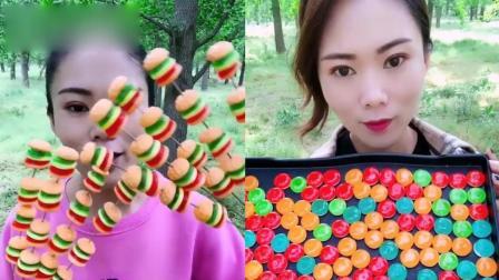 萌姐吃播:水晶糖果、小汉堡糖,一口超过瘾,是我向往的生活