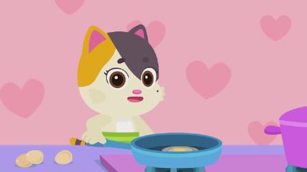 猫妈妈是一位全职家庭主妇,她拿起铁锅准备制作溏心煎蛋,还有哪些鸡蛋的彭仍方法吗?