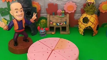 光头强买了蛋糕给嘟嘟,结果上面的水果都不见了,是谁吃了的?