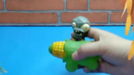 玉米炮躲在玉米堆里睡觉,僵尸来摘玉米,把玉米大炮给摘走了