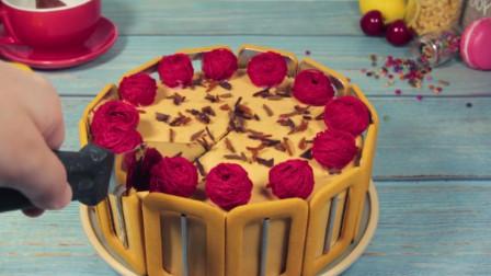 这样的蛋糕第一次见,一刀下去,看馋了!