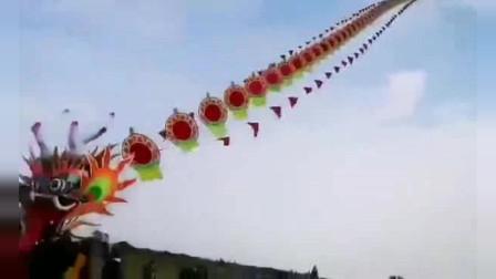 二月二放飞巨龙风筝