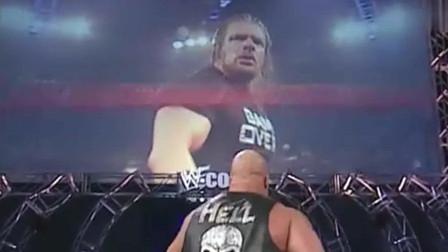 WWE:冷石奥斯汀对HHH的女友动手,HHH当场发飙,要求一决高下