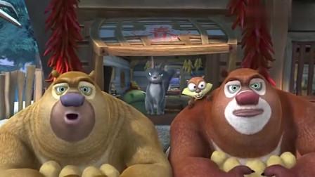 熊出没肥波为了土豆,让狗熊进光头强家,强哥知道会生气的