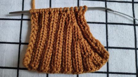你见过这种双罗纹的收针方法吗?双罗纹右边小燕子针的收针方法,花纹平整,适合编织双罗纹的毛衣