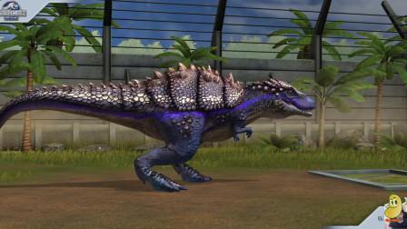 侏罗纪世界游戏:找了几只基因比较好的龙做混血恐龙,个头虽小但是凶猛无比!
