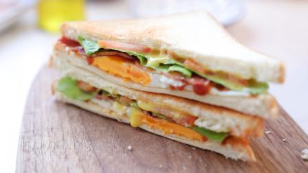 超迷你多功能烤箱做三明治,面包都烤糊了鸡蛋还没熟