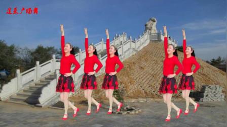 高安迷采广场舞 经典歌曲《山谷里的思念》 优美舞蹈 简单好看
