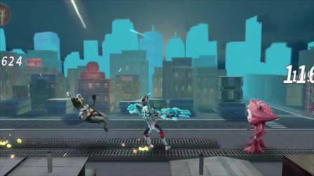 趣盒子奥特曼游戏 第一季 奥特曼 格斗英雄 试用艾克斯奥特曼瞬间解决战斗