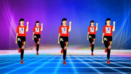 淡然豆芽广场舞《跟着音乐动起来》健身舞原创正背面附教学 完整版