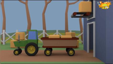 驾驶操作拖拉机运输货物 休闲益智游戏