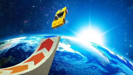 小飞象解说✘车模模拟器 开着赛车把自己送到了空中!