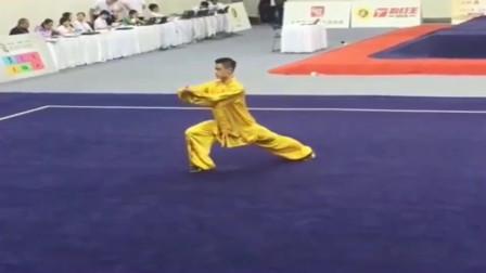 全国武术运动会,男子太极拳第一名,功夫怎么样?
