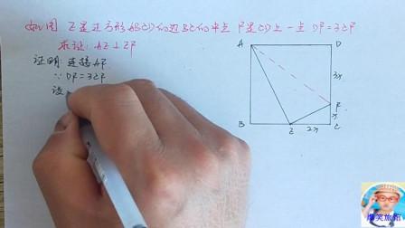 数学八年级下册  正方形性质的应用 判断线段位置关系