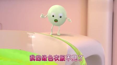 宝宝巴士:彩虹糖去游泳,水变成了绿色