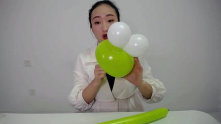 长条魔术气球青蛙街卖创意小造型气球编织入门基础简单教程教学