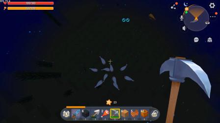 迷你世界双人生存58:在大海里找石油,忽然间来了一群鱼,把我包围了