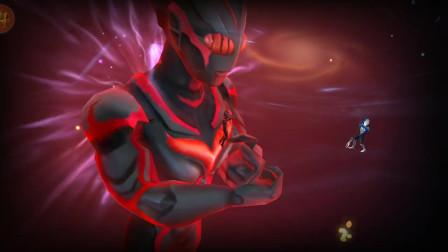 奥特曼格斗超人:黑暗扎基1V3变身巨型奥特曼秒杀欧布和泰嘉