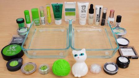绿vs白 彩妆、眼影等加入史莱姆 两种颜色都很漂亮 满意视频