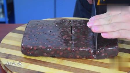 红豆糕新做法,不用蒸食材简单,软糯香甜,比买的还好吃