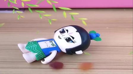 大头儿子和葫芦娃躺下天上掉下的是糖果,小朋友看看佩奇躺下天上掉下的是什么