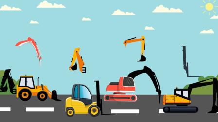 卡通汽车游戏 帮助儿童认识工程车的名字