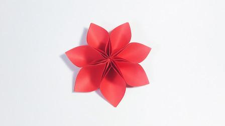 折纸王子大全 简单折纸 教你折纸七瓣花,原来很简单