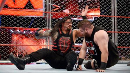 WWE罗曼雷恩斯VS凯文欧文斯