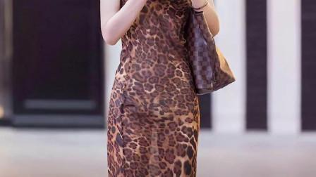 穿着如此豹纹长裙,应该是个很狂野的女生吧?