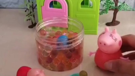 乔治准备了很多好吃的棉花糖,给了佩奇一份,给了猪妈妈一份