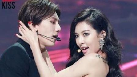 """韩国明星舞台上""""说亲就亲"""",一点不给观众留余地!网友:太敢了 !"""