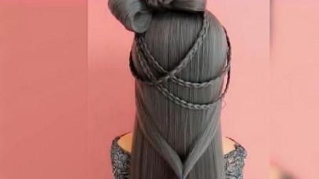 头发也能变出花儿来,这惊人的发亮和技巧,一般人真学不来