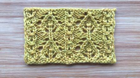 一款经典的镂空花样,叶子花和铜钱花组合,织衣服和围巾都漂亮各种编法
