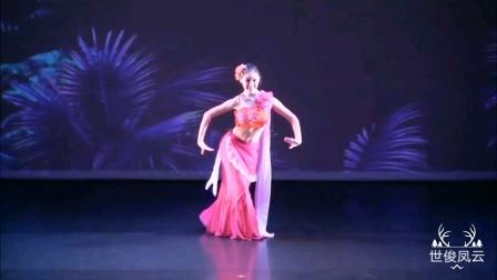 桃花春色暖先开,傣族女子独舞《花儿》