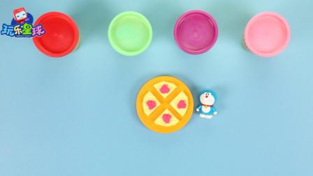 玩乐手工课 哆啦A梦用彩泥diy草莓松饼美食 早教手工学颜色