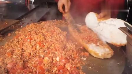 第一次见西红柿炒鸡蛋,可以做汉堡吃,看完瞬间不想吃了!