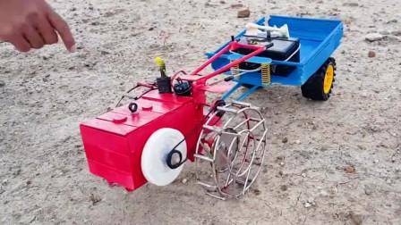 手扶拖拉机原型,没想到动力这么强!