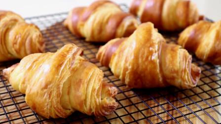 牛角面包制作教程,层层酥脆,美味可口!