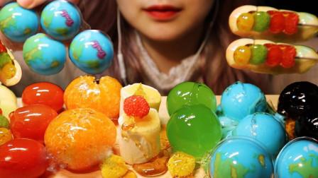 行旅天下 小姐姐吃水果和糖果,却包裹上一层冰糖,吃一口嘎嘣脆