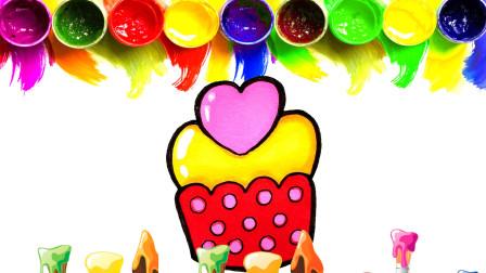 1分钟儿童简笔画,和宝宝一起画爱心小蛋糕吧