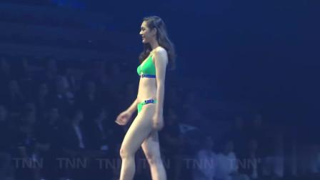 巴黎模特大赛比基尼泳装秀,模特也不容易,挺辛苦的