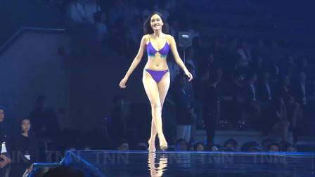 巴黎模特大赛比基尼泳装秀,模特表演青春活力