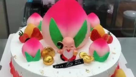 有知道为什么祝寿蛋糕大多做成寿桃形状的吗?过寿送寿桃的来历?