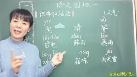 《园地一》:小朋友们看得懂天气预报吗?雨夹雪的符号怎么画