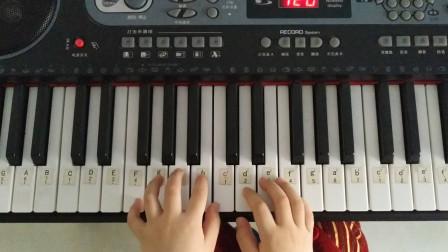 《追逐的两只小松鼠》钢琴曲小汤二初学者电子琴弹奏