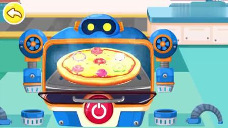 宝宝巴士:披萨做好了,芥末酱番茄酱黑椒酱,小伙伴来吃东西喽
